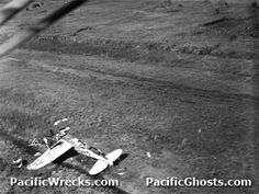 The end of Frankie I, but not the end.  The plane was wrecked shortly after take-off from the air strip near Port Moresby, New Guinea.  In recent years however, this wreck was located, salvaged, and brought back to the U.S.  It is being restored in Arizona.
