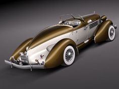 1935 Auburn Boattail Speedster Convertible Model 851 love the color