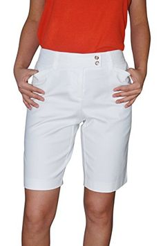 Charter Club Women's Modern Fit Shorts 6 Bright White -- For more information, visit image link.