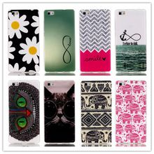 Gedessineerde ultra slanke rubber soft tpu siliconen case cover voor huawei ascend p8 lite(China (Mainland))