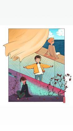 Maknae line bts Bts Chibi, Japan Design, Foto Bts, Bts Photo, Bts Bangtan Boy, Bts Jungkook, Arte Do Kawaii, Kpop Drawings, Art Anime