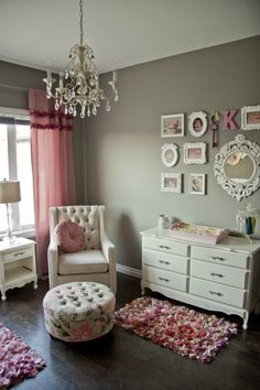 . Love the wall color much better than pink. Maybe when we move..