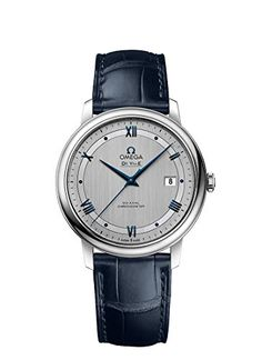 Omega De Ville Automatic CoAxial Chronometer Blue Leather Strap 42413402002003 * Read more  at the image link.