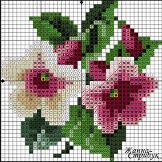 #crossstitch #kanaviçe #çiçek   crossstitch kan