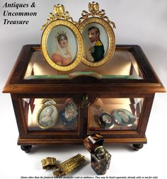 Many copies of portraits of Napoleon & Josephine were made. They say Napoleon was a master at 'advertising', or some would say 'propaganda' in getting images of his successful battles, and of ceremonies and etc., to the people. As well, the Grand Tour travelers found this type of miniature a favorite for souvenirs of their time in France through mid-1800s.