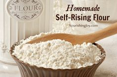 Knowing how to make homemade self-rising flour is a great quick kitchen helper! Memorize this simple recipe and you'll be able to adapt thousands of recipes effortlessly.