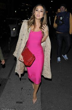 Think pink in Myleene's bandage dress from Littlewoods #DailyMail