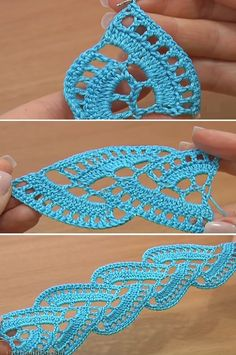 Stripy Lace Crochet Tutorial --2 Part Video tutorial at this site.