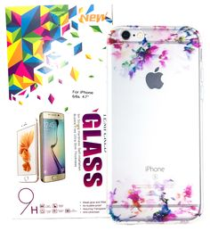 Save a bundle!  YogaCase #Watercolor #Flowers case for iPhone 6 and 6S with a Tempered Glass Screen Protector.  On Amazon: https://www.amazon.com/dp/B01M7185QX/ On Yoga-Case: http://www.yoga-case.com/product-category/cell-cases/iphone/iphone-6-6s/iphone-6-intrends-w-protector/  Buy 2 on Amazon and save 10%.  Buy 3 on our website and save 60%.  #iphone6 #iphone6case #iphone6s #iphone6scase  #iphonecase #protector #temperedglass #watercolorflowers #watercolors #artwork #painting