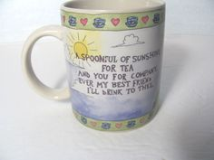 Boyds Bears Best Friends Collection Mug - A Spoonful of Sunshine Coffee Tea Mug in Collectibles | eBay