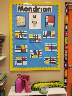 Piet mondrian inspired art project for preschoolers! Artist of the month