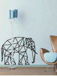 Modelo geométrico del elefante etiqueta de la pared