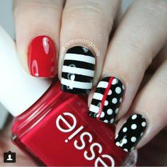 Purity Polka Dot Nail Designs, You always suppose that solely subtle styles will rock your nails? Nail Art Stripes, Polka Dot Nails, Striped Nails, Polka Dots, Cute Nail Art, Cute Nails, Pretty Nails, Joy Nails, Uñas Diy
