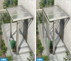 外壁工事不要な、独立式のテラス屋根です。建築面積に不算入のT字構造のため、建ぺい率がギリギリの現場でも取り付けることが可能。