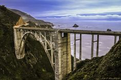 No road-trip to Monterey County is complete without a drive on the Bixby Bridge in Big Sur. The iconic concrete arch bridge that connects Carmel and Big Sur is easily one of the most photographed bridges in the nation. Monterey Ca, Monterey County, Big Sur California, Northern California, Salinas River, Big Sur Hotel, King City, Carmel Valley, Pebble Beach