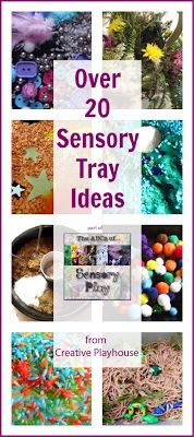 trays, tray idea, playhouses, sensory play for older kids, sensori play