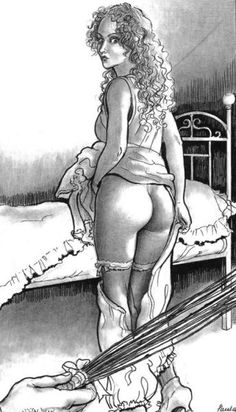 spanking-art:  Art by Paula Meadows  Ok, last thoughts of the day. Today, I've got an email from my disciplinarian, in reply to the one I've send him with my naughtylist. We are to set an appointment to talk about all the naughty things I've done lately. Why do I feel like I've been summoned to the principal's office?! (I've been there a few times, but never got spanked). This time, I am gonna get spanked and I'm a bit anxious