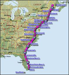 Driving Map of East Coast | 26: Some of the benefits to having a ...