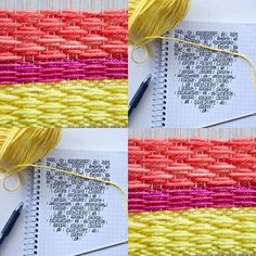 Diamonds are forever... but seriously you could weave this pattern endlessly tutorial on the blog
