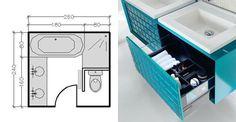 Aménagement petite salle de bains : 15 plans pour une petite salle de bains (- de 5m²)
