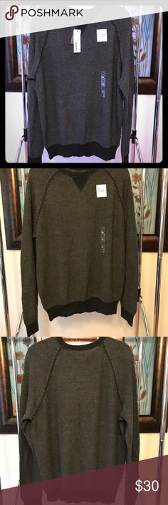 Sonoma Long Sleeve Henley Sweater NWT. Sonoma Long Sleeve Henley Sweater. Comfortable style. 100% Cotton.  Dark Heather. Sonoma Sweaters Crewneck