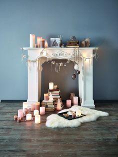 deko kamin weihnachtsdeko kerzen laternen   kamine   pinterest, Hause ideen