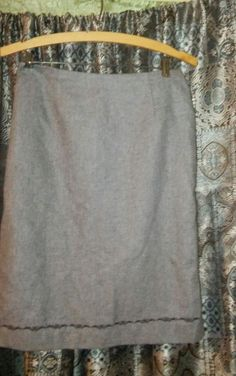 old navy wool lined skirt grey size 2 #OldNavy #StraightPencil