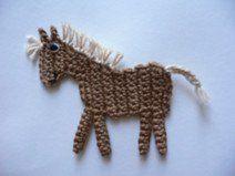 Pferdchen (klein) - Häkelapplikation