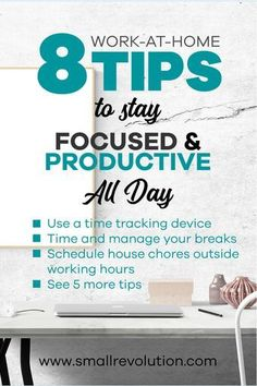 Check out this brilliant productivity tips to help you stay focused and productive all day when you work from home. Work From Home Tips, Make Money From Home, Productive Things To Do, Marketing Program, Affiliate Marketing, Productivity Hacks, Time Management Tips, Stay Focused, You Working