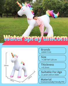 Best Cheap Price Customized Available Eco-friendly Pvc Gifts Inflatable Unicorn Yard Sprinklers Farm Sprinkler UnicornYardSprinklers# InflatableUnicorn Kids Sprinkler, Water Sprinkler, Wholesale Toys, Fun Size, Good And Cheap, Garden Hose, Summer Fun, Cool Kids, Eco Friendly