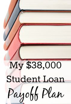 My $38,000 Student Loan Payoff Plan. That's the total amount of student loans that I accumulated while I was getting my undergraduate and graduate degrees. The amount that is left is still at $38,000 now, mainly because I haven't really bothered with student loan repayment (even though I should have!) and interest has stupidly been building up. http://www.makingsenseofcents.com/2012/11/student-loan-plan.html