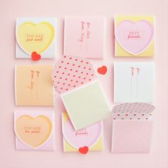 FREE Printable Conversation Heart Valentines - SheSaved®