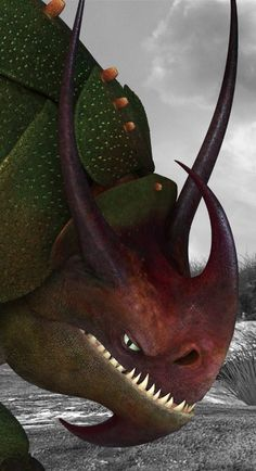 """Rublehorn is a tracker class dragon first featured in the 2014 film """"How to Train Your Dragon 2."""""""