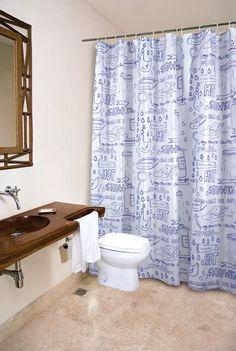 cortina de baño hot shower