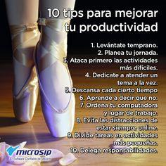 #TipsMicrosip 10 tips para mejorar tu productividad