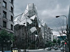 Health Department building in Bilbao, Spain. Origami like building
