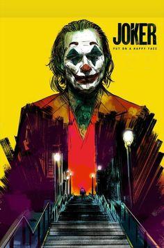 Joker Poster - Created by Glen Stone Le Joker Batman, The Joker, Joker Art, Joker And Harley Quinn, Gotham Batman, Batman Art, Batman Robin, Spiderman, Batman Wallpaper