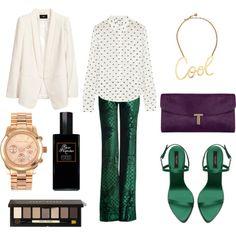 Polka dots + emerald.