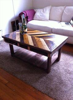 DIY Chevron Pallet Table | Pallet Furniture DIY