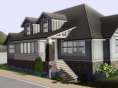 My Sims 3 Blog: Fluorescent Grey House by Fortheloveofsims