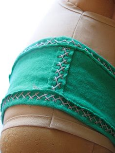I love the herringbone stitch so I used it to flat fell the seams open and to bind the edges.