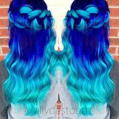 Ultramarino neón | 21 Colores atrevidos que te inspirarán a teñirte el cabello en 2016