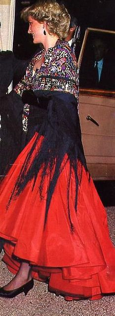 Diana  (different earrings -maybe Americas Cup Ball 1986? 1987?)
