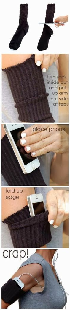 The Most Comfortable iPhone Armband EVER ~ DIY