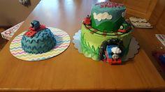 Thomas the train birthday and smash cake