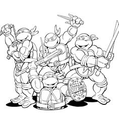 ninja turtles coloring pages for kids - Enjoy Coloring