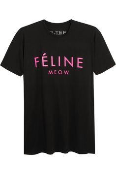 want right MEOW!   Brian Lichtenberg|Féline cotton T-shirt|NET-A-PORTER.COM