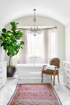 Transitional Bathroom by Burnham Design
