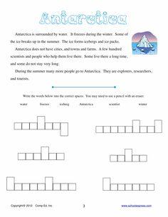animals of antarctica worksheet | SchoolExpress.com - 17000+ FREE ...