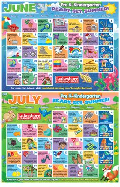 Download now for two months of summer activity ideas for Pre K-Kindergarten!